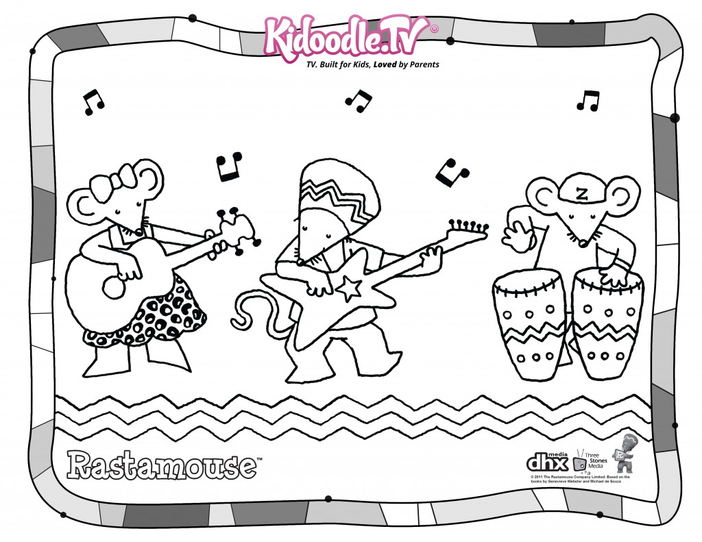 picture regarding Printable Company Limited titled Rastamouse Totally free Printable Coloring Sheet - Kidoodle.Tv set