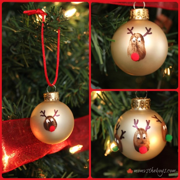 reindeer thumbprint ornament collage 600x600 - Christmas Decorations List