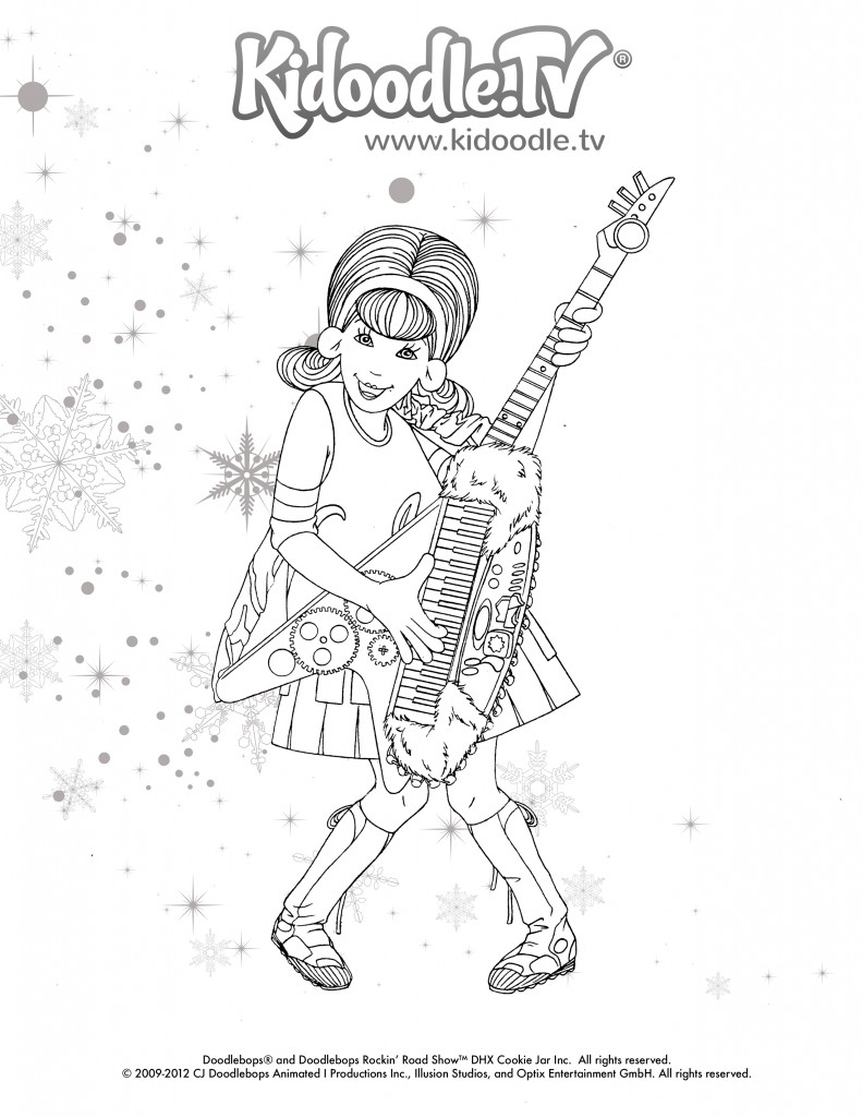 Love The Doodlebops? Get these Fun, Printable Holiday Coloring ...