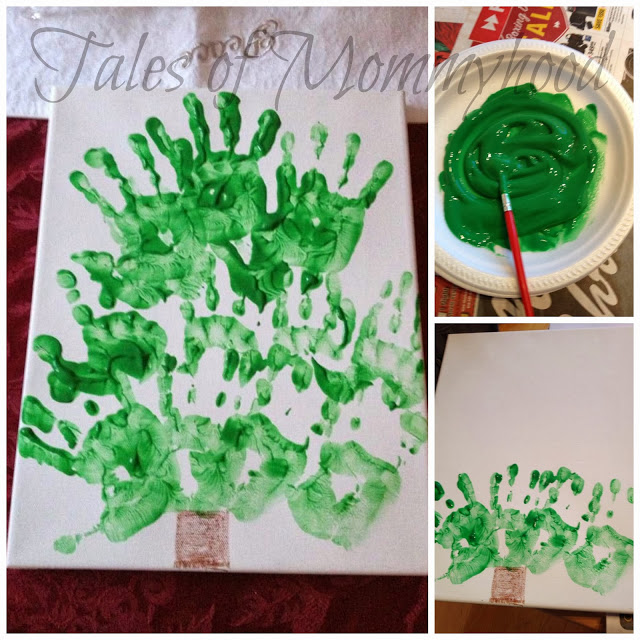 handprint christmas tree collage