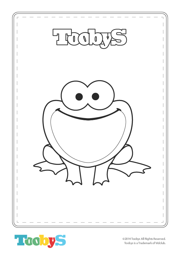 Tooby's Frog Coloring Sheet