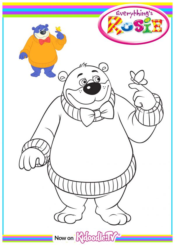 Colouring Sheet - Big Bear Butterfly