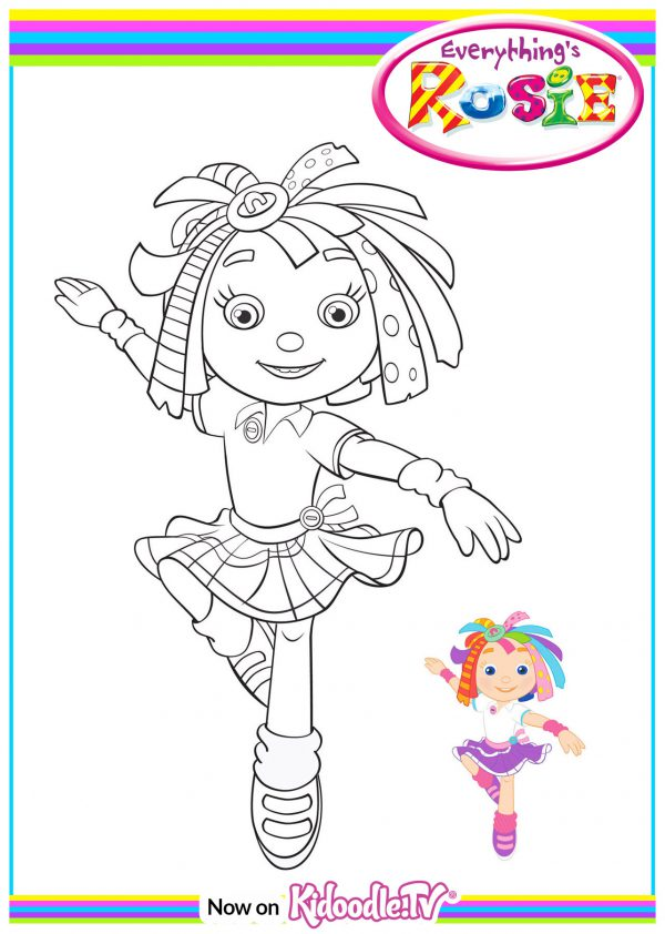 Colouring Sheet - Rosie Dance